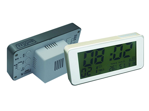 PM2.5 air monitoring alarm clock