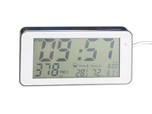 Air monitoring alarm clock